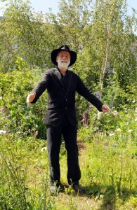 Terry Pratchett in the SkyShades Garden