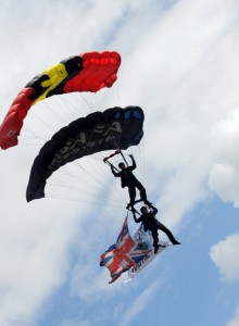 Black Knights parachute display team