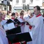Choir singing in the High Street