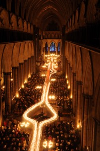From Darkness to Light Advent Procession at Salisbury Cathedral