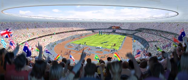 Olympic Stadium CGI