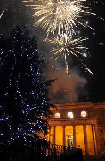Salisbury Christmas fireworks
