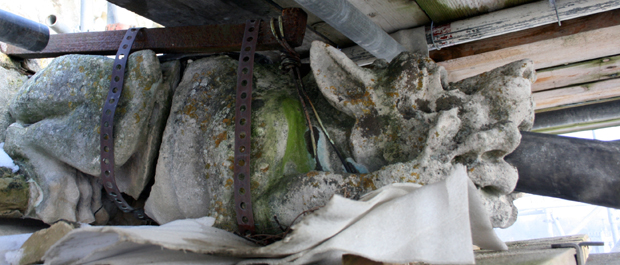 The gargoyle to be replace on the Chapter House, Salisbury Cathedral