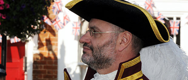 Owen Collier, town crier, royal Wootton Bassett