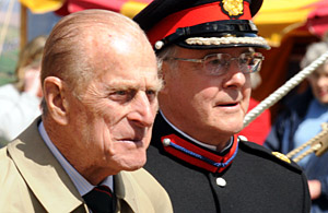 The Duke of Edinburgh with Lord Lansdowne