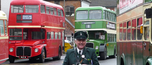 Vintage buses at Salisbury Bus station