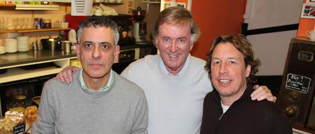 Gianni Campanella, Terry Wogan, Mason McQueen. Photo by Curve Media Ltd