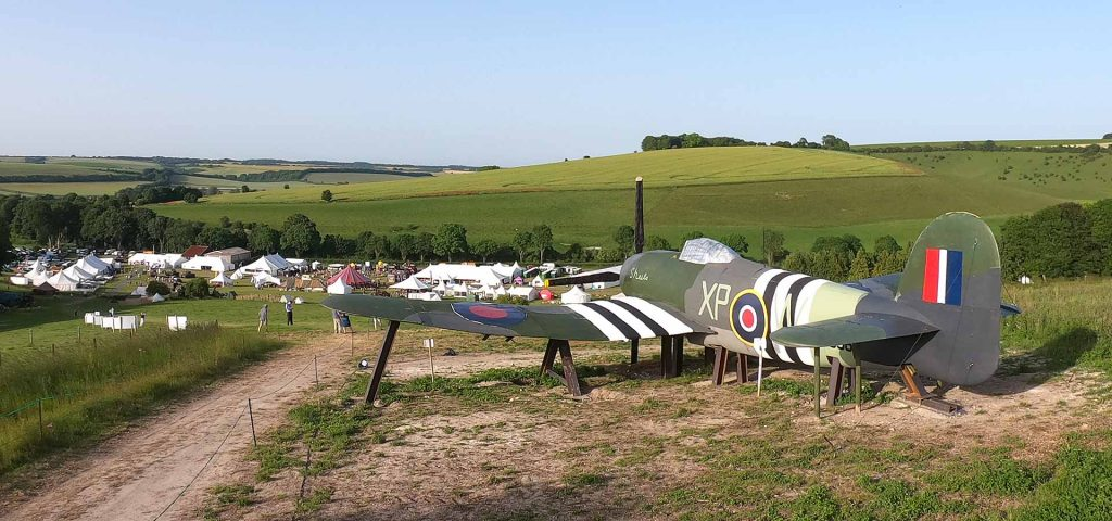 Hawker Typhoon scale model at Chalke Valley History Festival